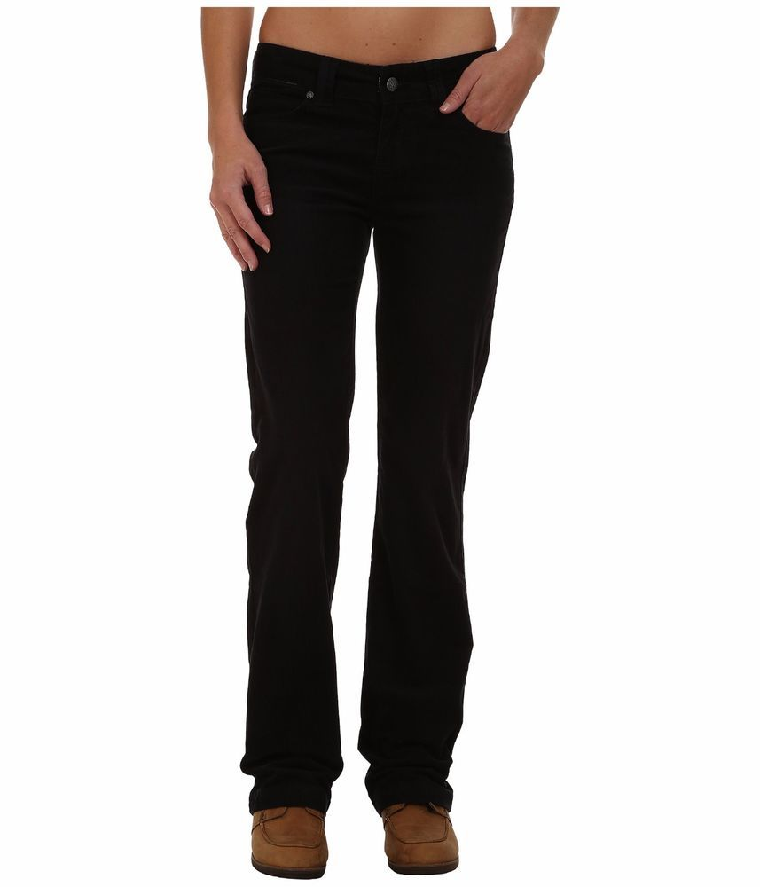 cd2071a58417 Prana Crosing Corduroy Pants Black Mid Rise Straight Leg Women s Size 2   Prana  StraightLegStandardfitFivePocketStyling