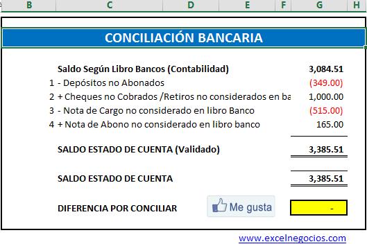 Conciliacion Bancaria Automatica Macro Excel Libros Contables Bancaria Libro Banco