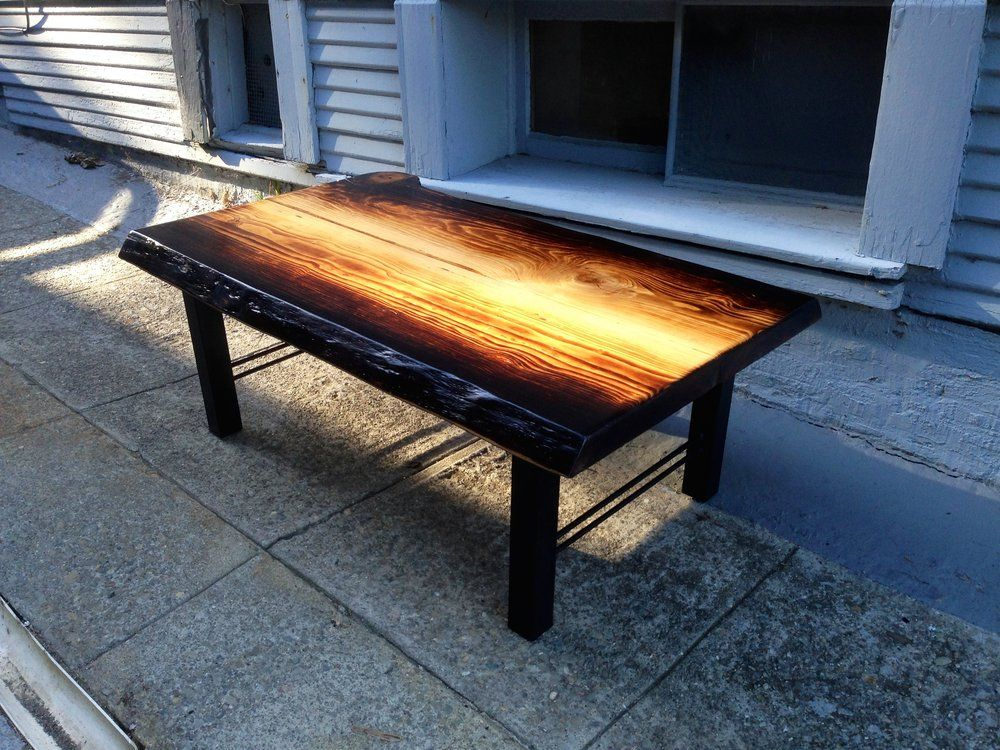 Ambrose Woodworks - Oakland, CA, United States. Torched Deodar Cedar coffee table