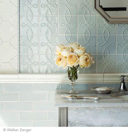Tile From Walker Zanger Rivoli Deco Field Pearl Liner