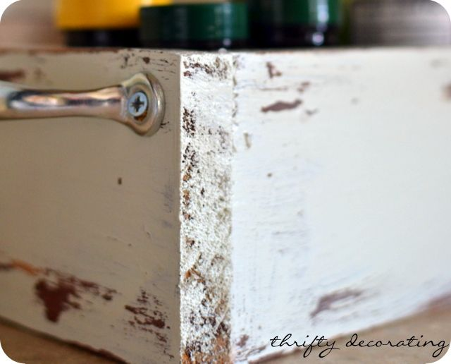 Make your own distressed wooden box