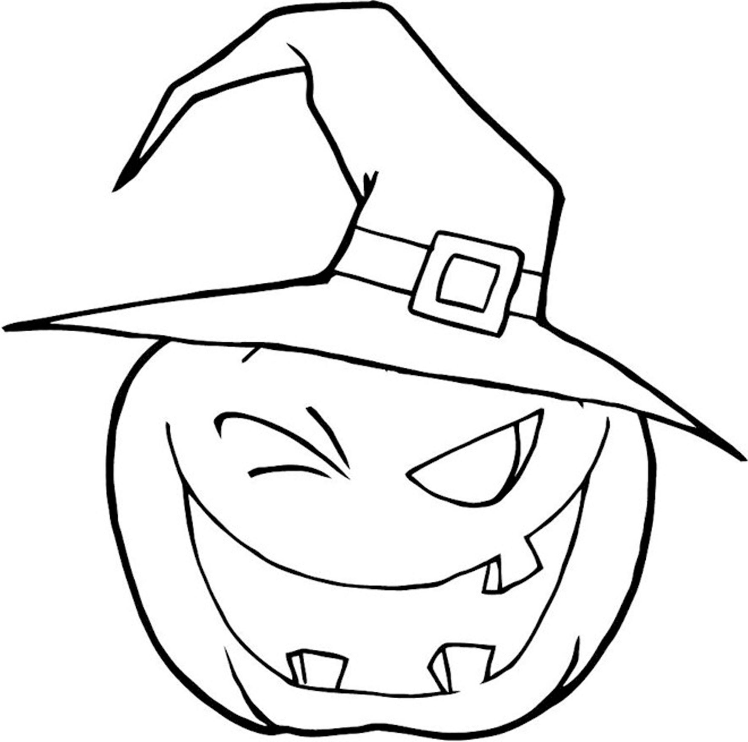 Halloween Pumpkin Coloring Pages Freeprintablecoloringpages 2550×2531  Pumpkin And
