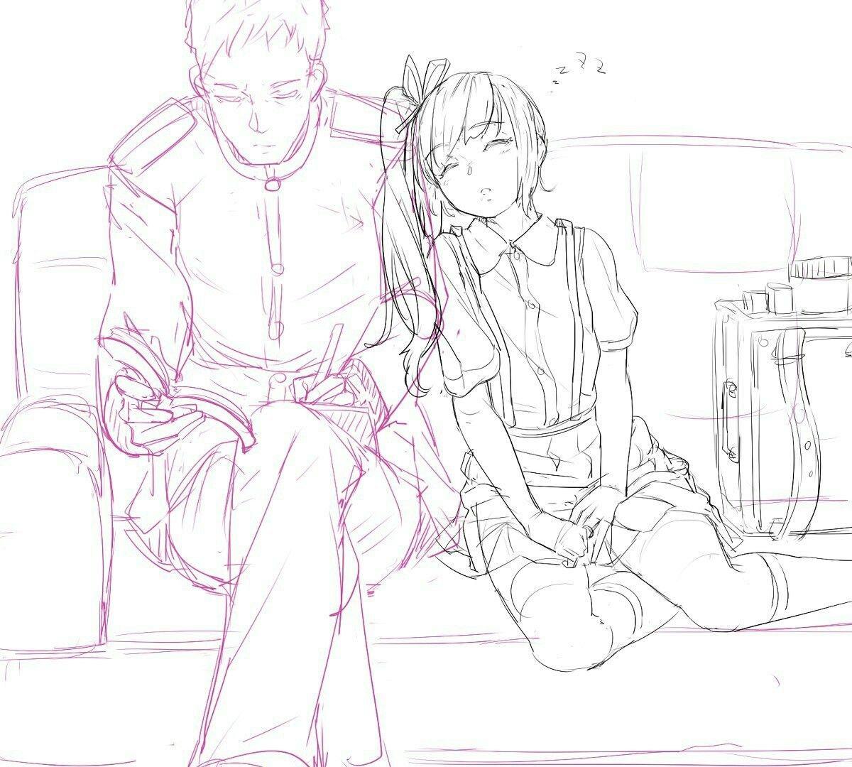 Sleeping Reference Couple Cute Kawaii Anime Manga How To Draw Drawing Sleeping Drawing Drawings Manga Drawing
