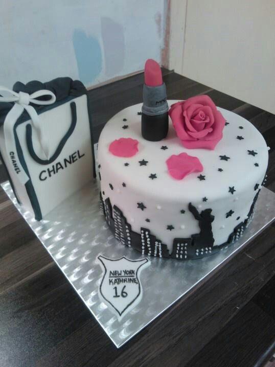 New York Lipstick Chanel Bag Sweet 16 Cake Designer