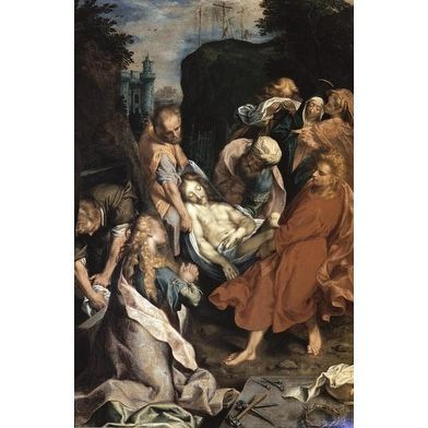 Christ Entombed by Frederico Barocci Figures Art Print