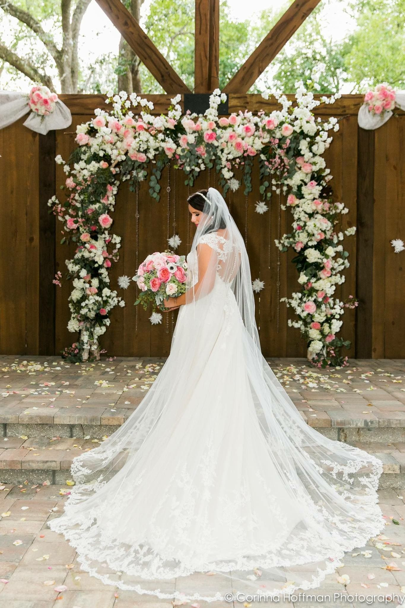 Bridal gown wedding dress elegant and classy with long