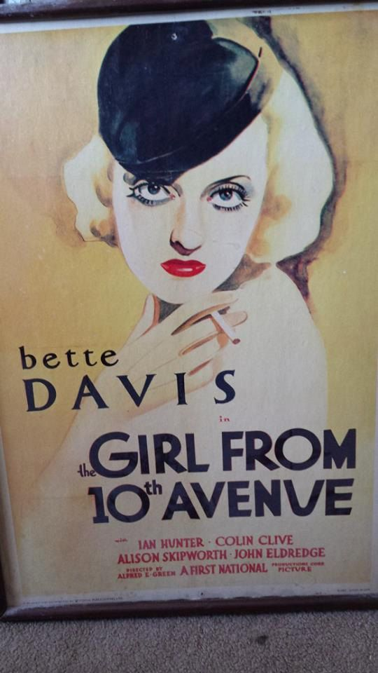 1930s vintage movie poster the girl from 10th avenue