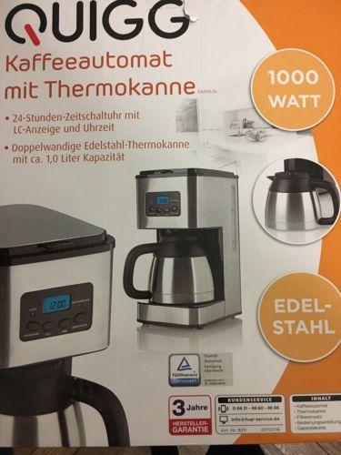 QUIGG Kaffeemaschine mit Thermokanne mit Zeitschaltuhr 24 hsparen25