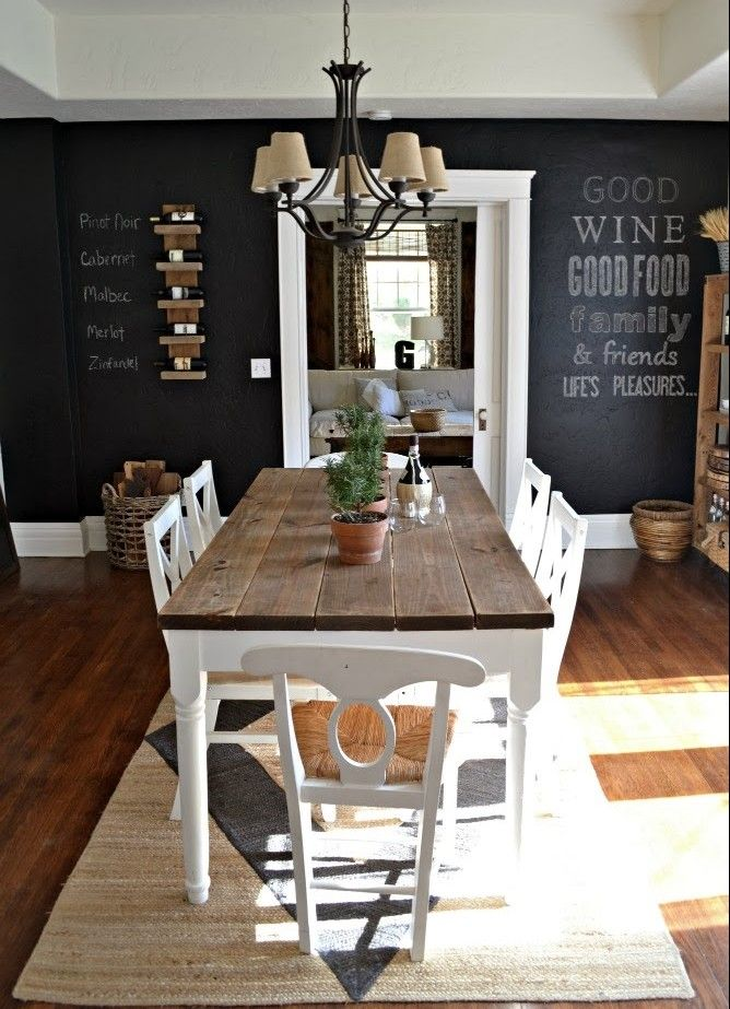 15 Chalkboard Ideas for around your Home Comedores, Pequeños y Me - Comedores De Madera