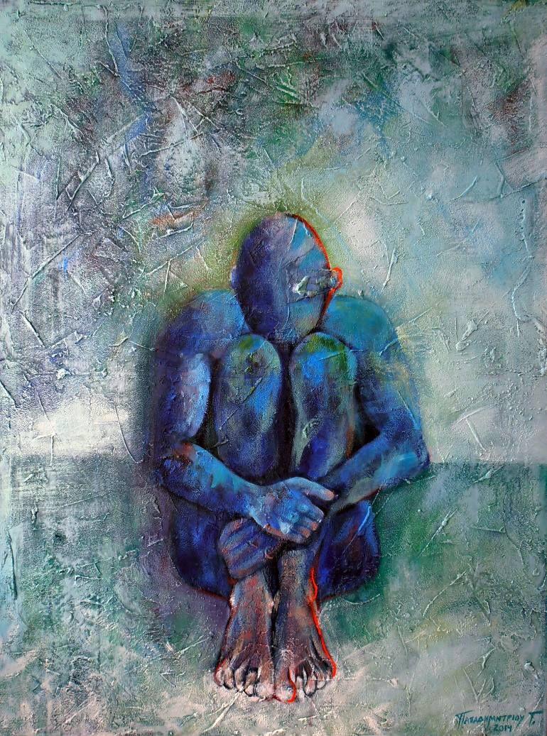 "Saatchi Art Artist Georgios Papadimitriou; Painting, ""Isolation"" #art |  Painting, Art, Saatchi art"