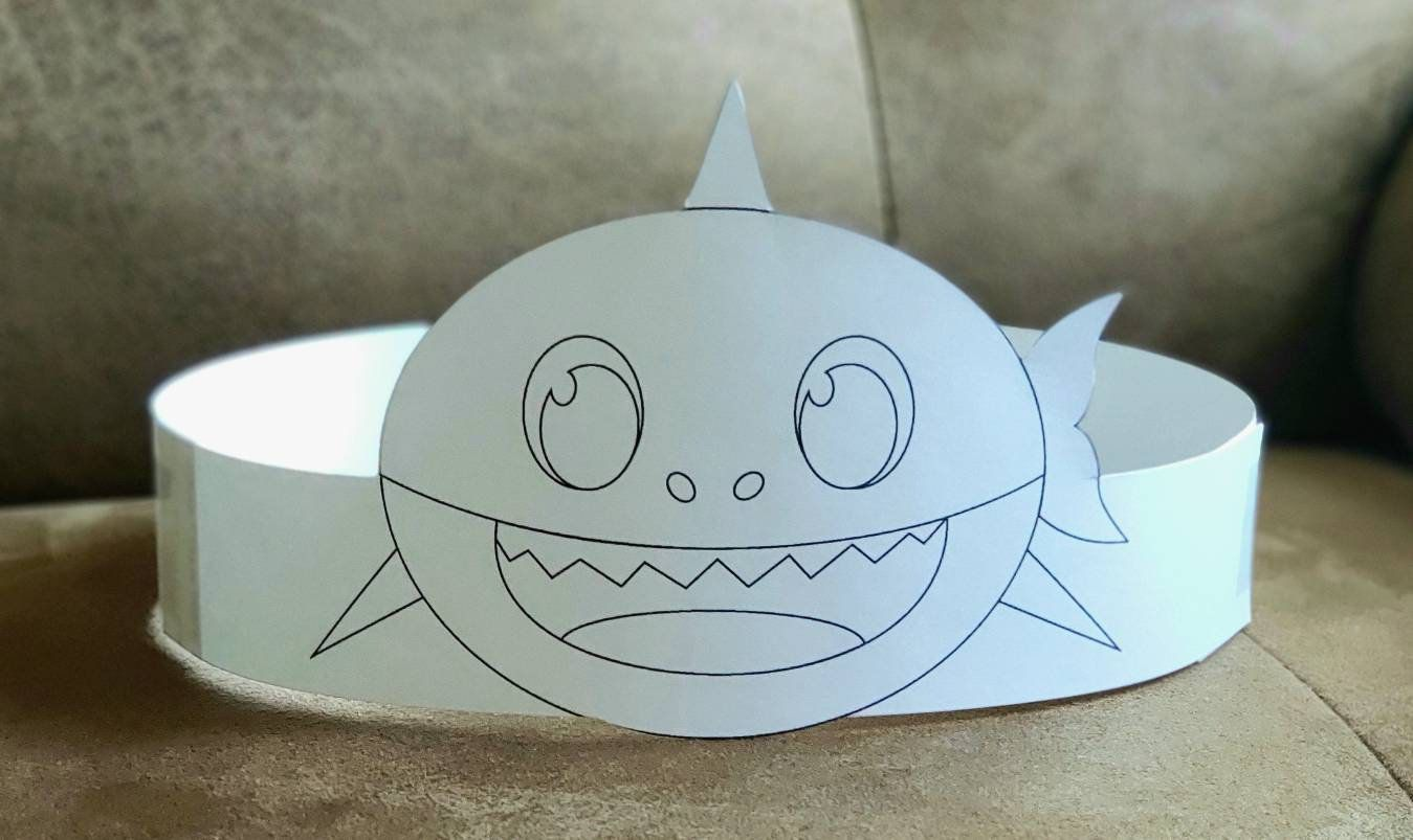 Baby Shark Coloring Printable Paper Crown