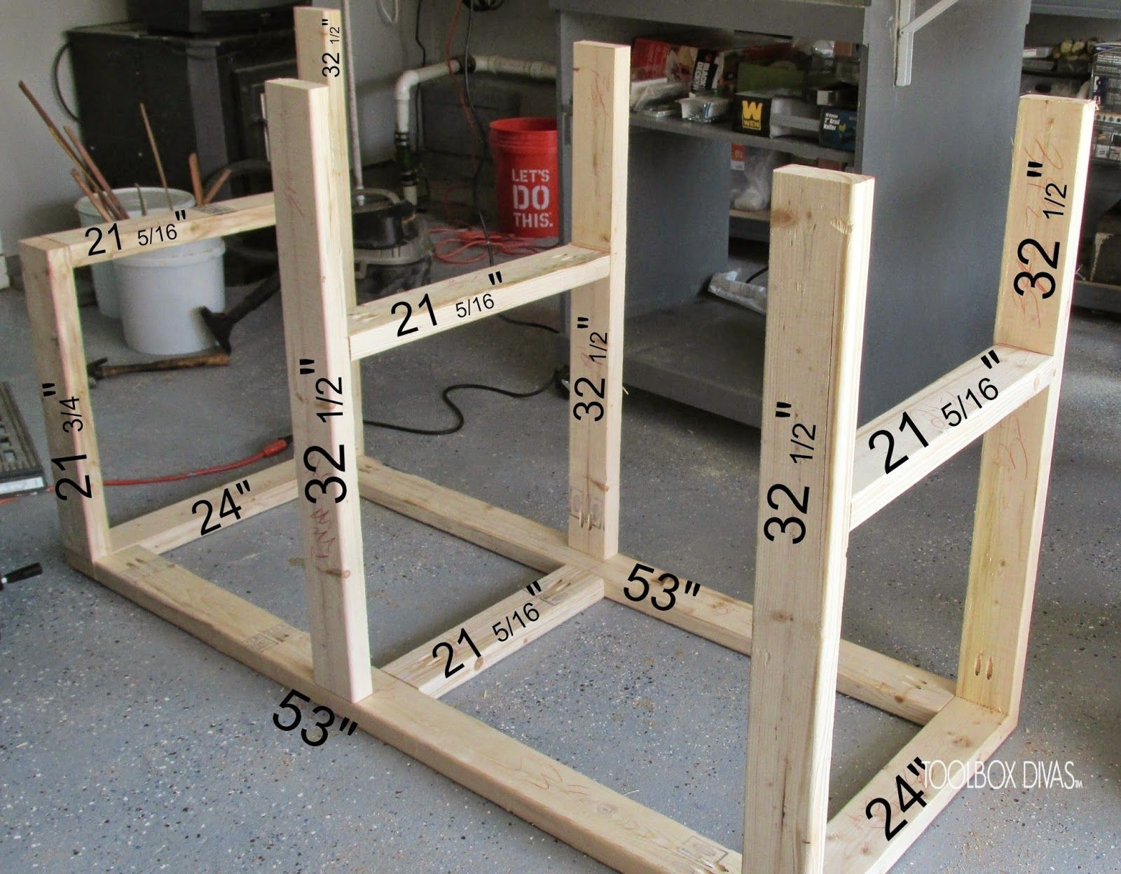 Table Saw Workbench with Wood Storage Woodworking