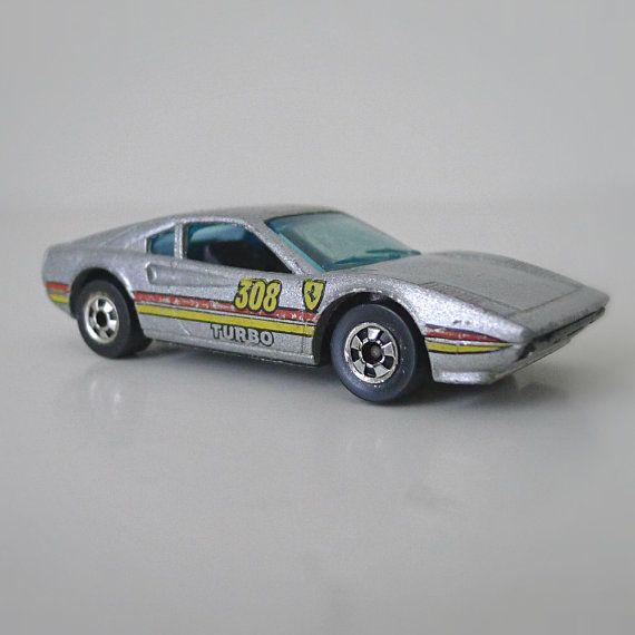1980s hot wheels car ferrari race bait 308 turbo metalflake gray die cast