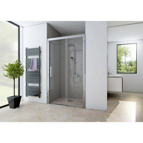 Porte de douche coulissante 100 cm, transparent, Adena | Salle de ...
