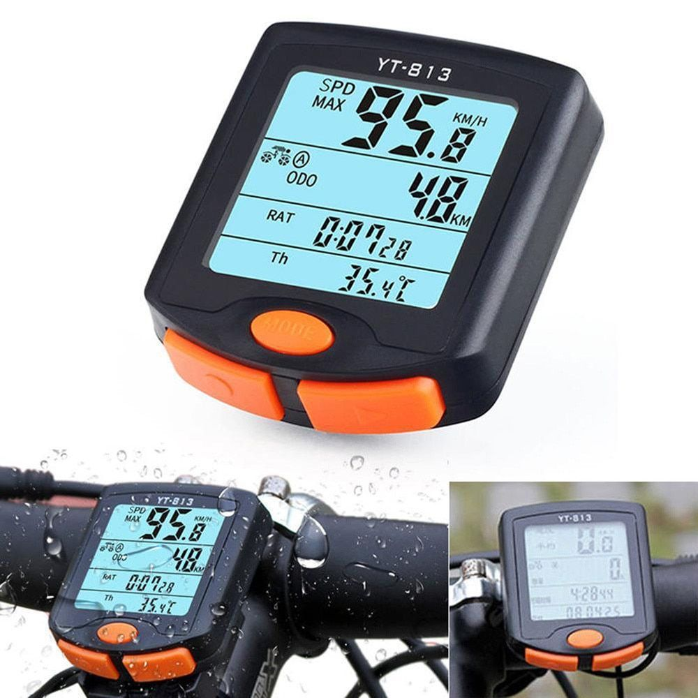 WIRELESS WATERPROOF DIGITAL LCD BIKE BICYCLE COMPUTER ODOM ODOMETER SPEEDOMETER