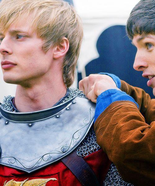 """""""Merlin"""" Bradley James (Arthur) & Colin Morgan (Merlin ..."""