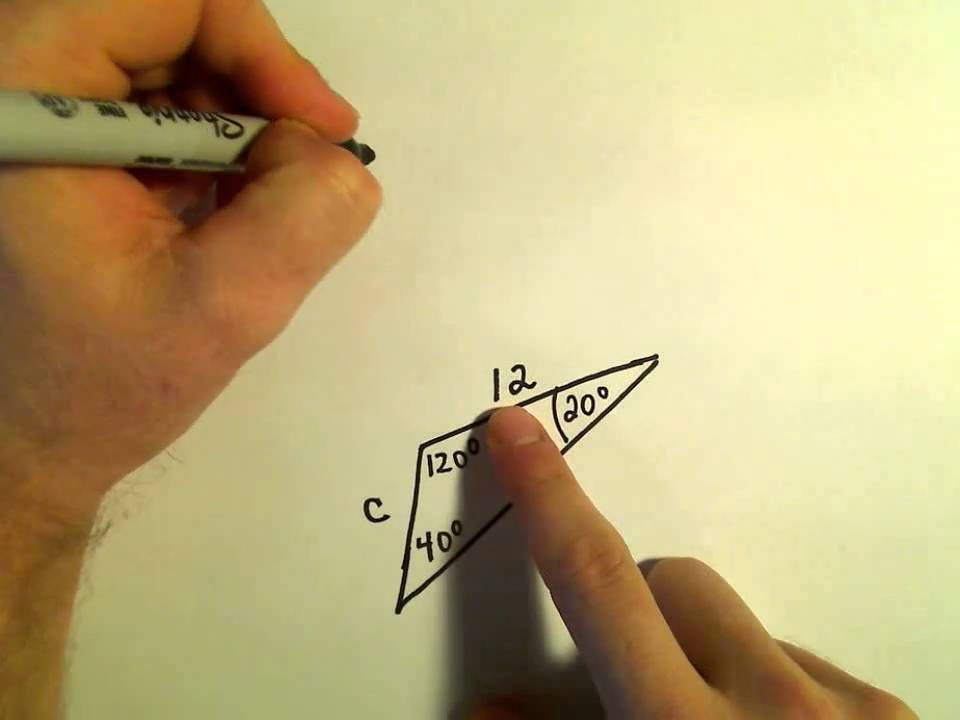 The Law Of Sines Example 1 Law Of Sines Word Problems Free Math Worksheets