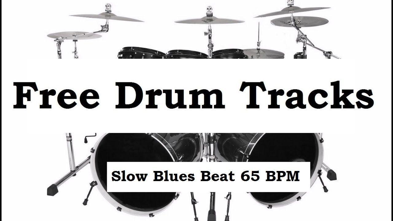 Slow Blues Drum Beat 65BPM Bass Guitar Practice Track Free