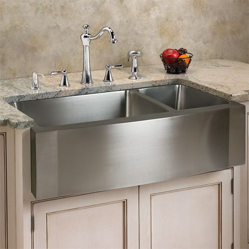 33 Optimum Stainless Steel 70 30 Offset Double Well Wave Apron Farmhouse Sink Farmhouse Sink Stainless Steel Farmhouse Sink Apron Front Kitchen Sink