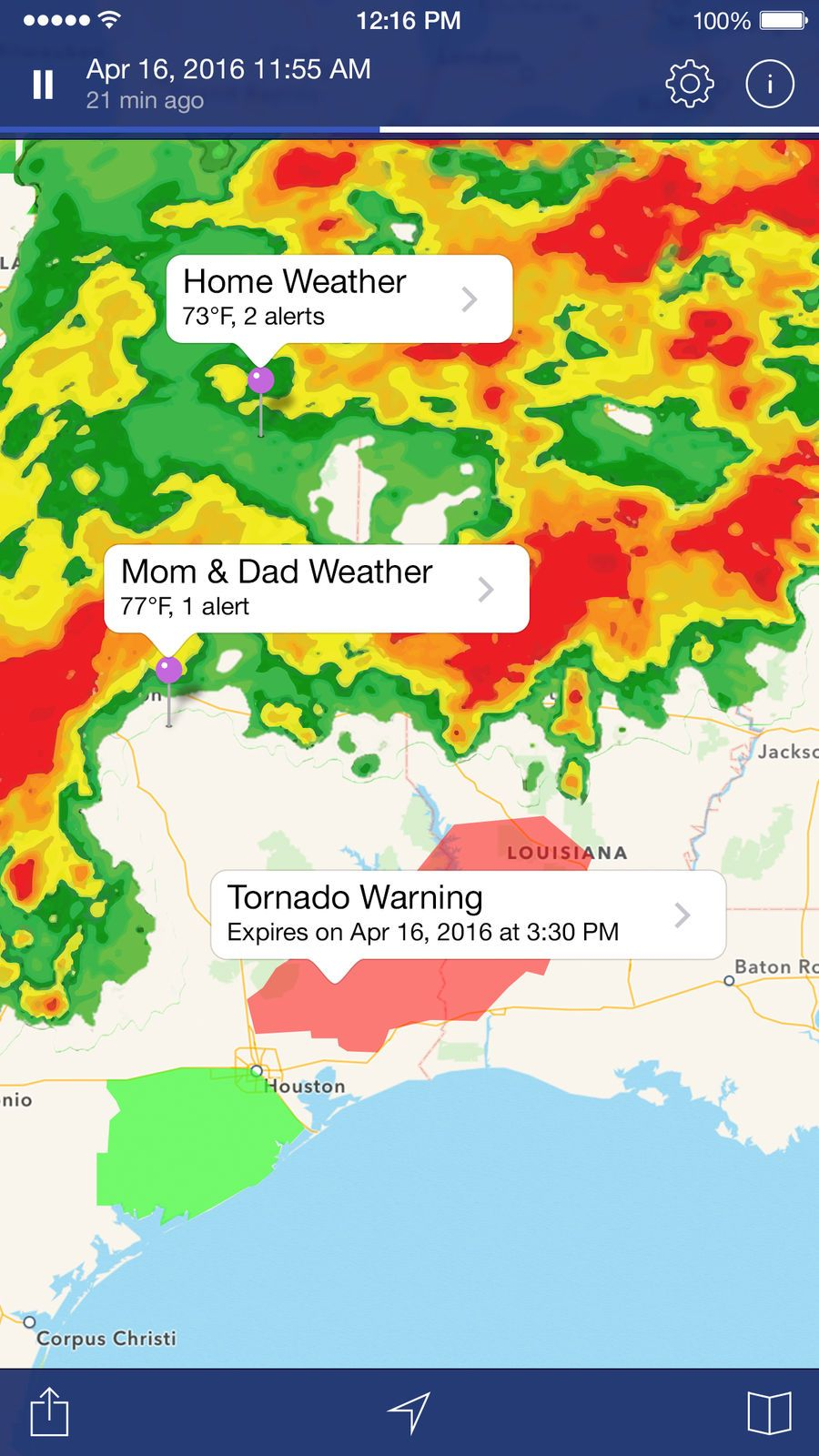 NOAA Weather Radar. TravelAppsappsios Weather, Noaa