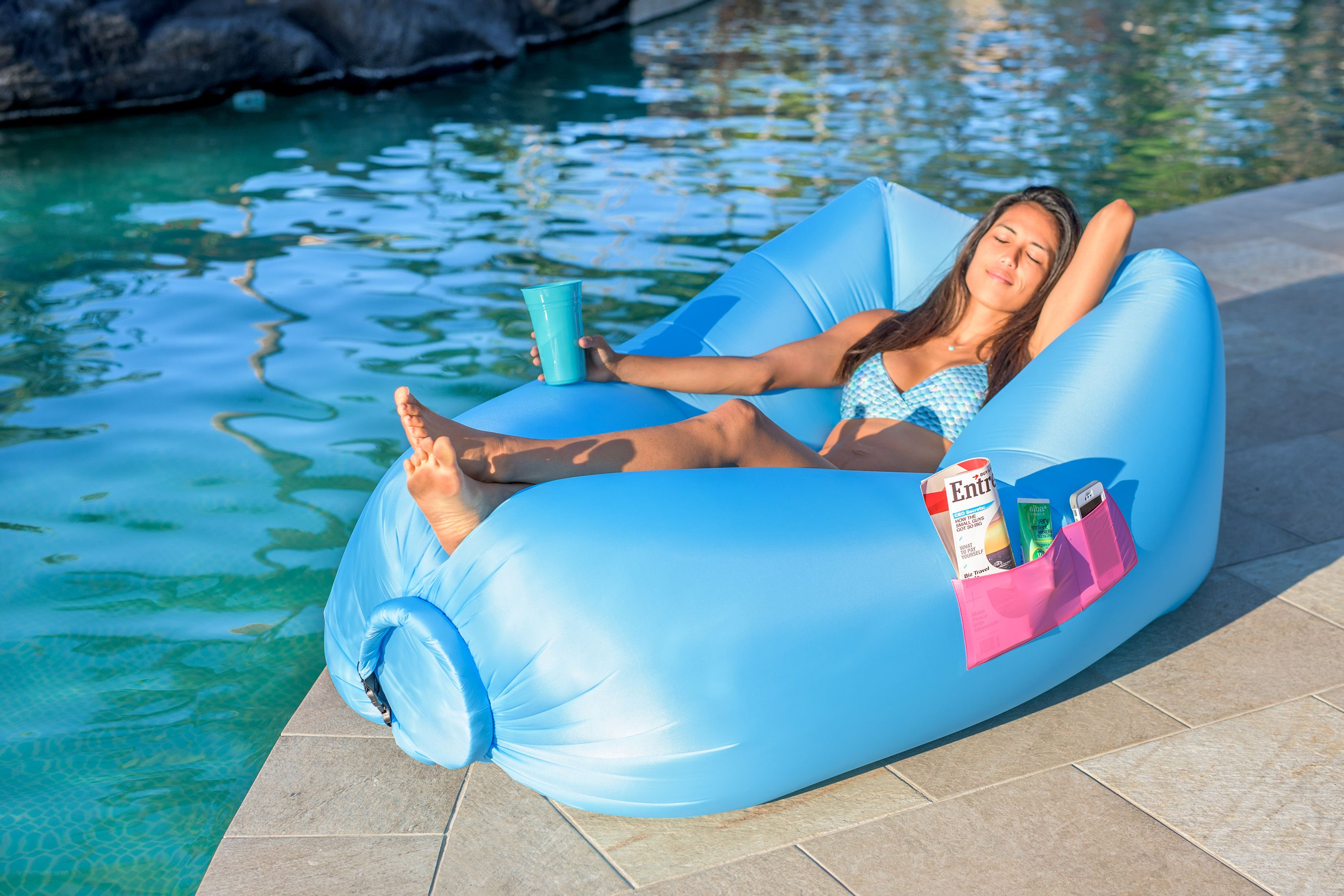 Inflatable air lounger for Camping Picnics Music Festivals