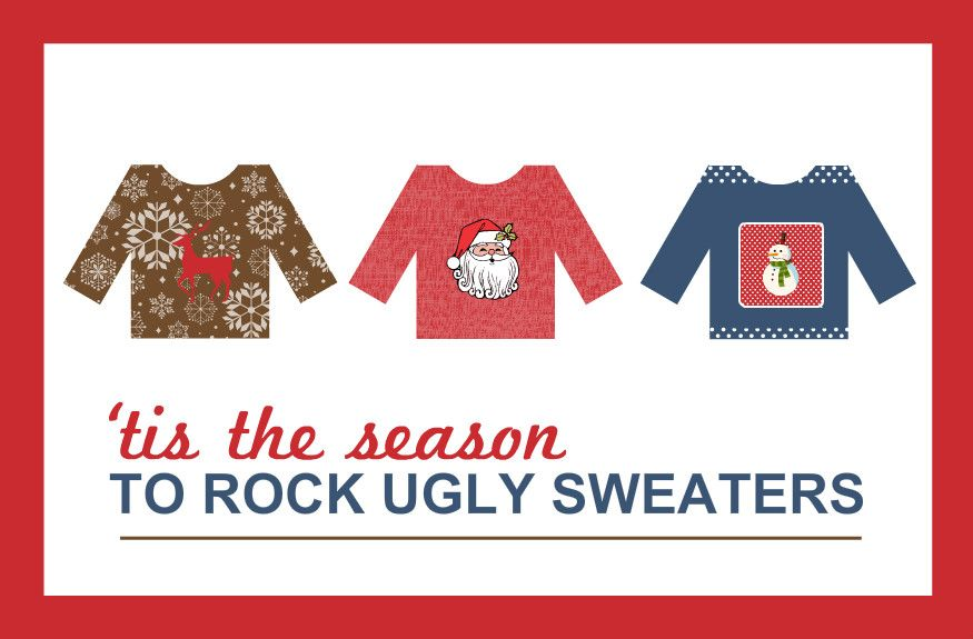 ugly christmas sweater card sayings Google Search Misc