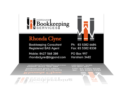 Horsham bookkeeping services business cards layout design by horsham bookkeeping services business cards layout design by phunkemedia web graphic design reheart Choice Image