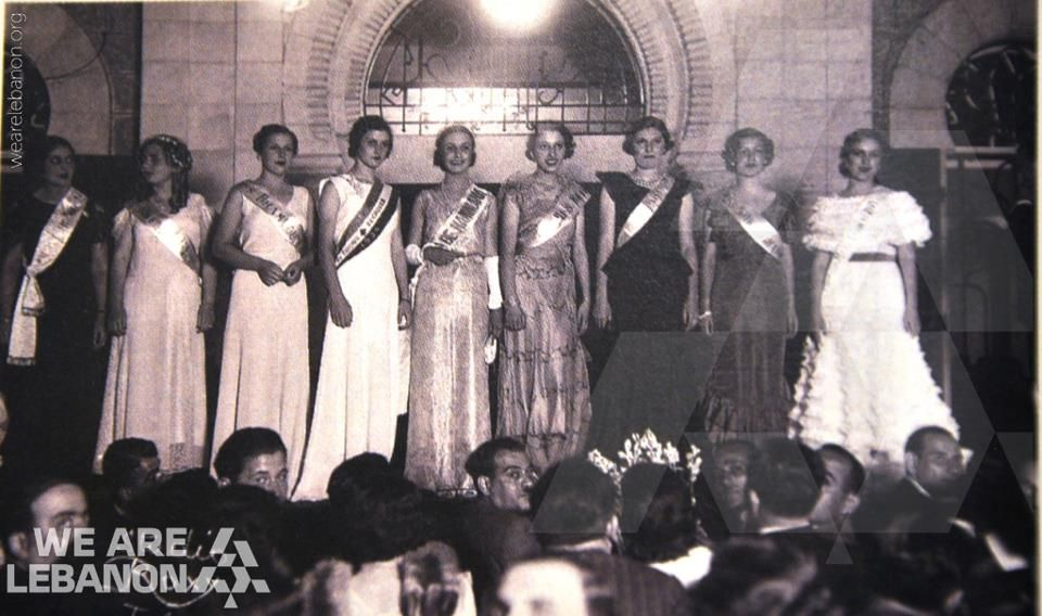The election of Miss Lebanon, year 1935