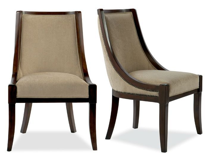 Information:  Brownstone Furniture Sienna Side Chair Features: Swooping curves and classic detailing makes this chair a timeless treasure in your dining setting