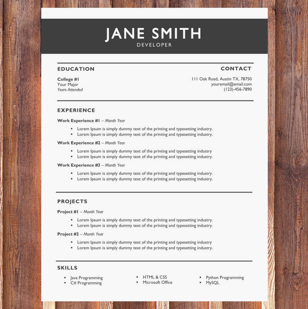 Creative Resume Template Modern Resume Template Cover Letter