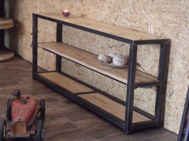 Console bois métal 170x30 70. 680€ | Home Decor | Pinterest ...