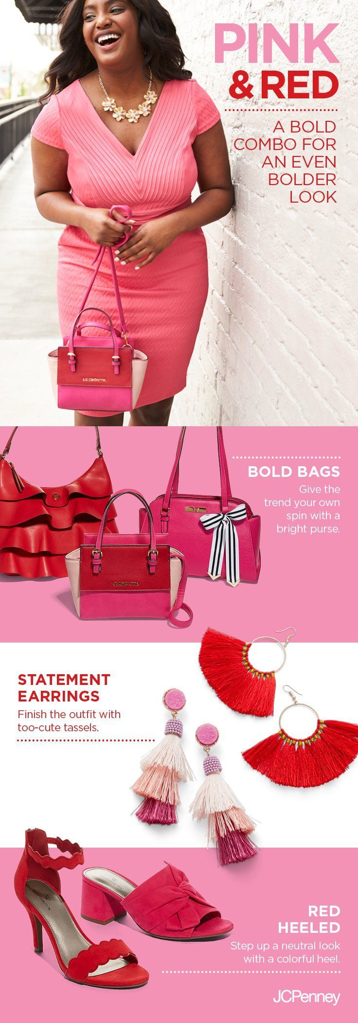 Pink and red are leading the colorblocking trend this season make