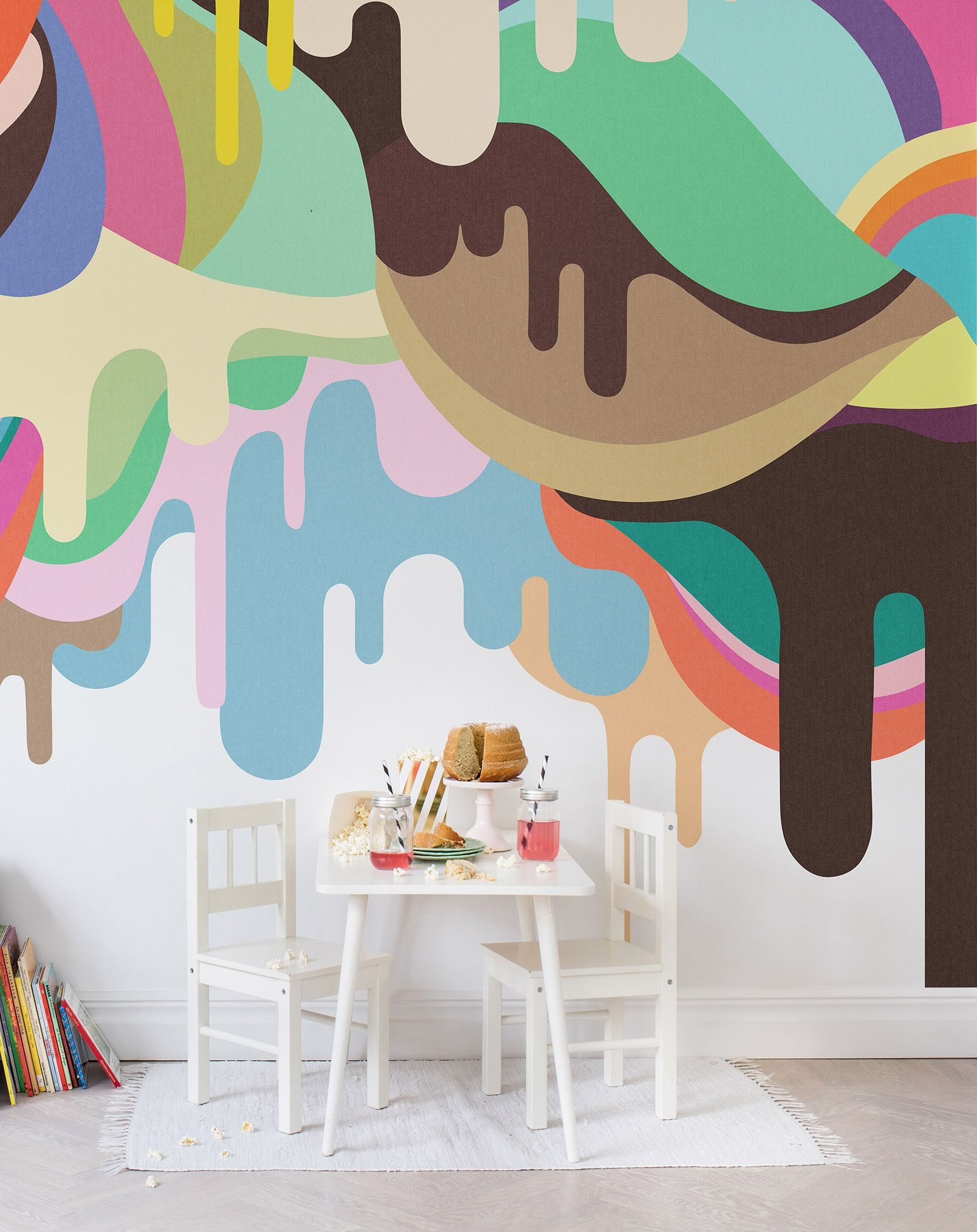 Wandtapete Kinderzimmer Dripping Ice Cream Wandtapete Wc Pinterest Barn