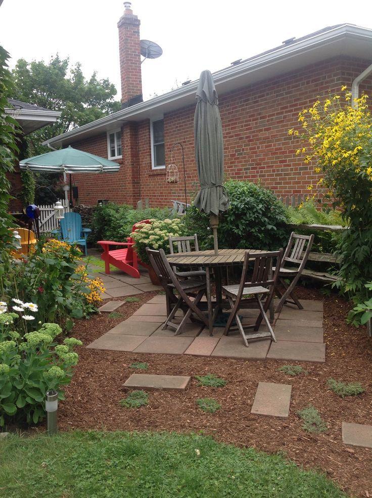 Diy Backyard Patio On A Budget: Back Yard Patio Ideas On A Budget With Mulch