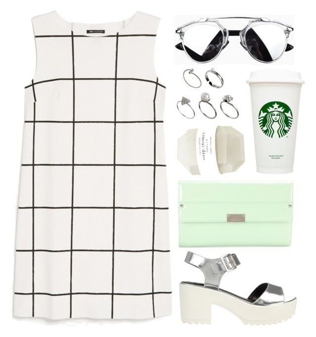 """""""Untitled #1796"""" by katerina-rampota ❤ liked on Polyvore featuring MANGO, ASOS, Jimmy Choo and River Island"""