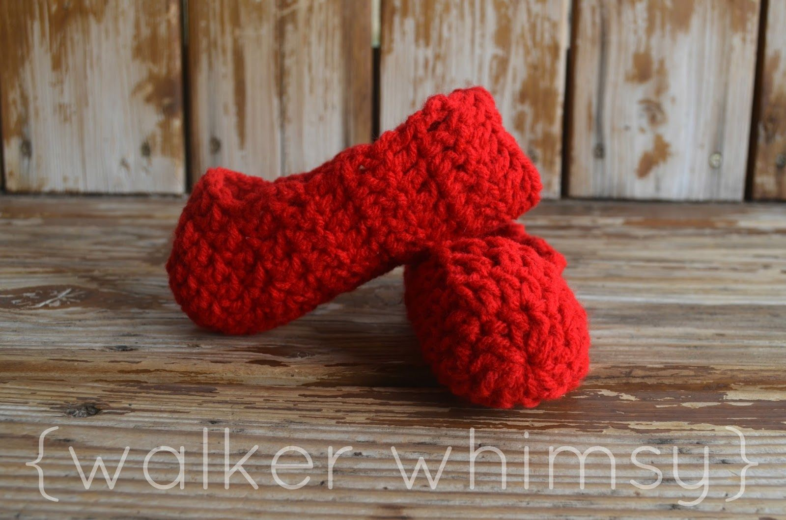 walker whimsy}: Crazy Easy Kid Slippers {POTM} | All About Crochet ...