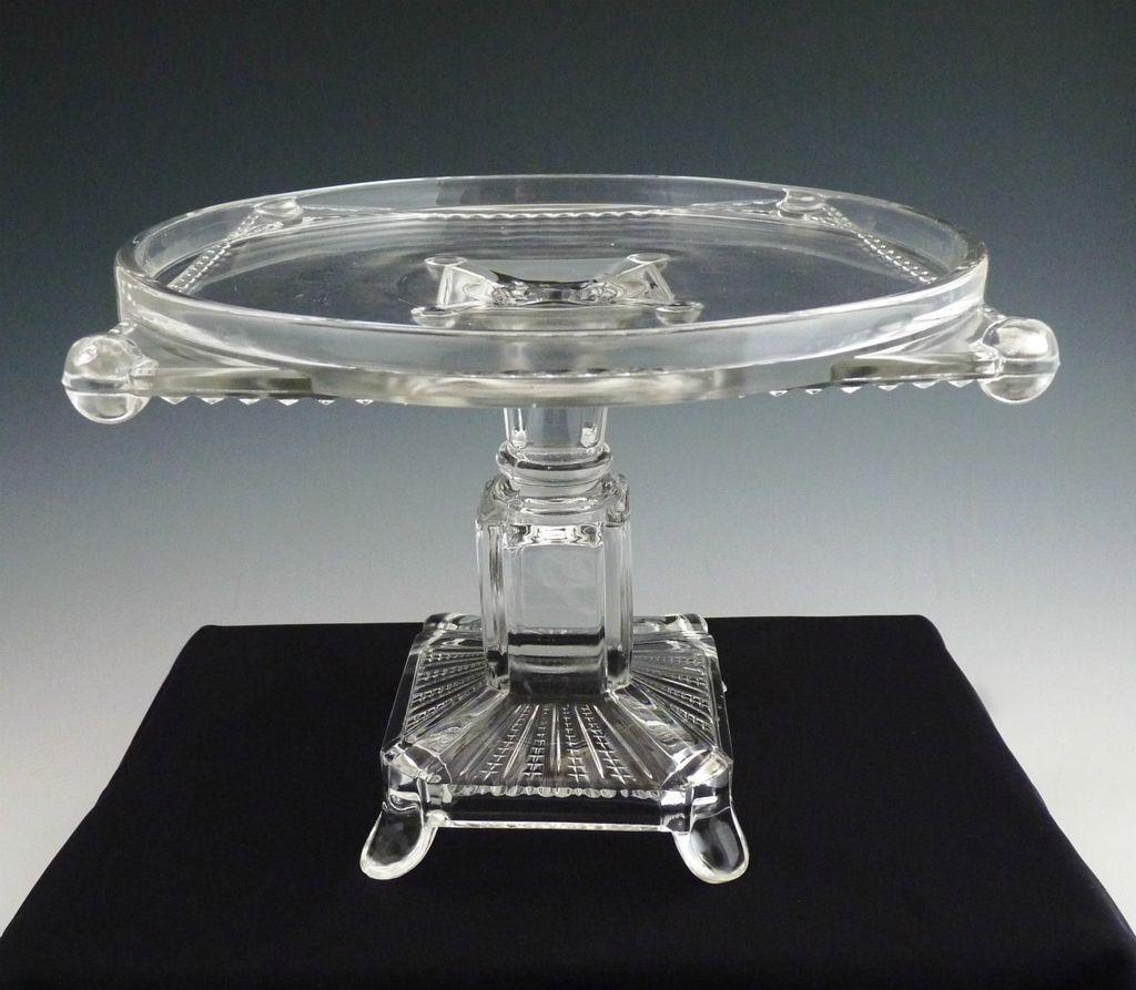 glass cake plate flat