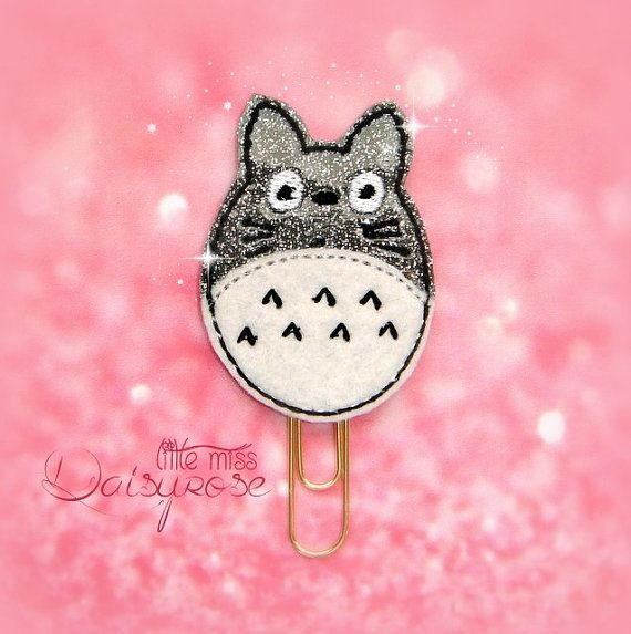 TOTORO Planner Paper Clip by LittleMissDaisyrose on Etsy