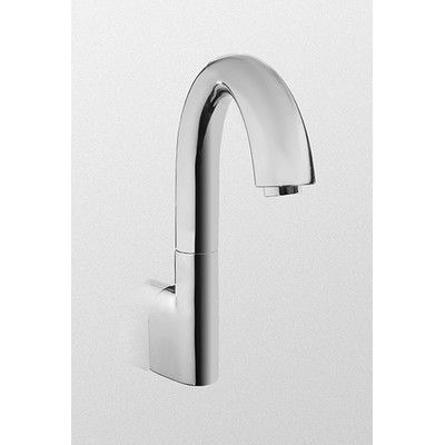 Toto Eco Power Wall Mounted Electronic Gooseneck Bath Faucet Flow Rate 1 0 Gpm Bath Faucet Faucet Bathroom Faucets
