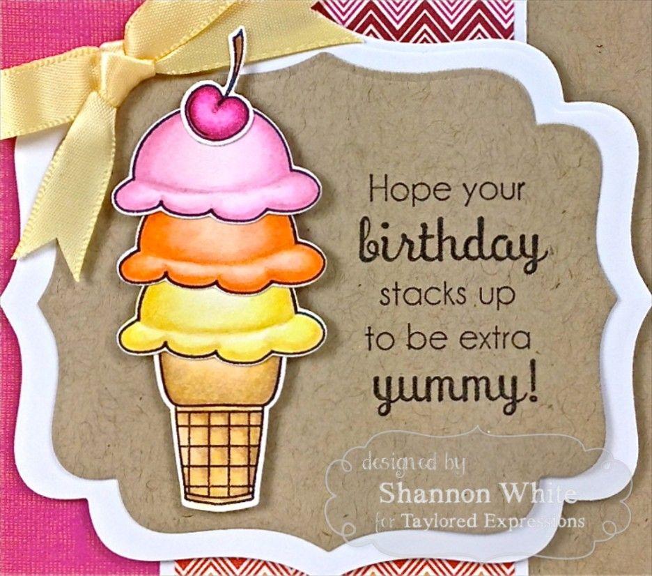 Cupcake Ice Cream Happy Birthday Wishes Summer Birthday Card – Designs of Cards for Birthday