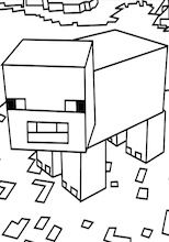 A Minecraft Pig Coloring Page Minecraft Coloring Pages