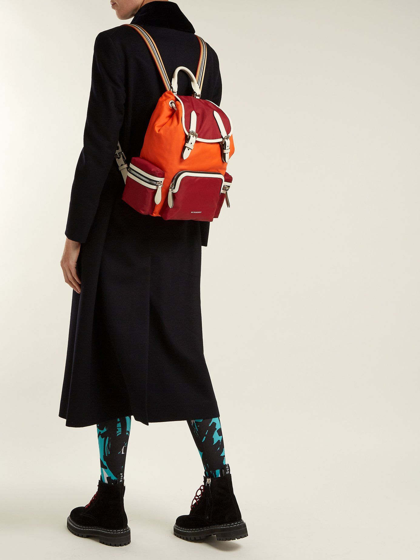 1949ce58fa47 Medium nylon and leather backpack