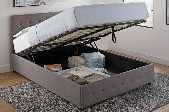 Morphis upholstered storage platform bed bedroom best - Best platform beds with storage ...