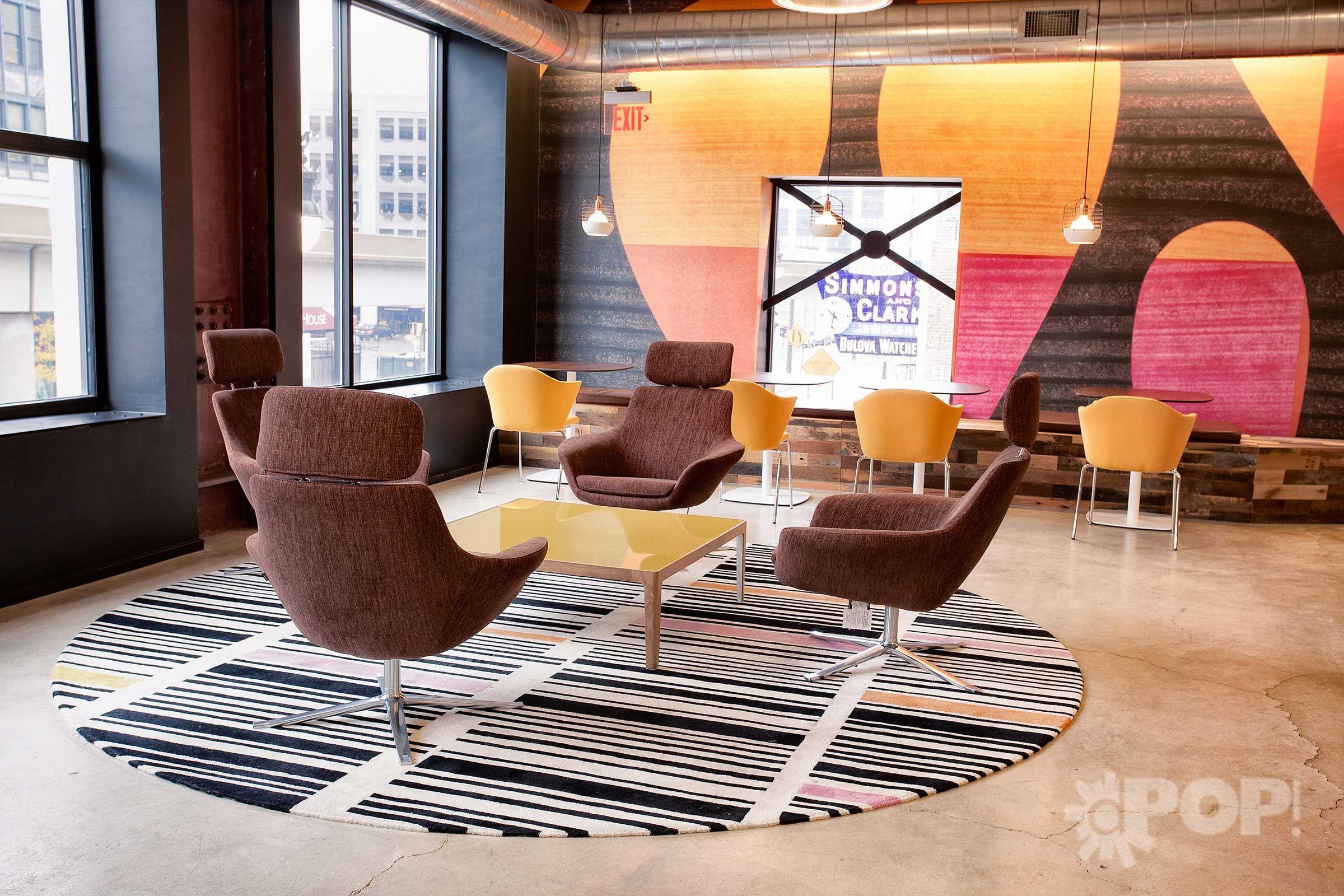 Coalesse Bob lounge CG1 Capa Guest Chair and Enea Lottus Cafe