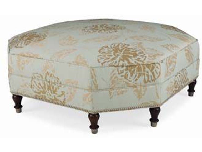 CR Laine Living Room Gaston Octagonal Ottoman 2187