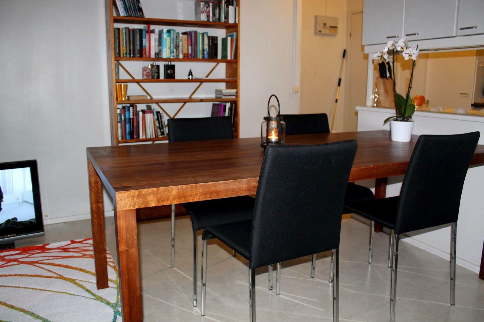 My very first dinner table #wooden_dinner_table #dinner #wood http://alinankotona.blogspot.fi/2013/11/fiilistelyja-uudesta-kodista.html?view=snapshot