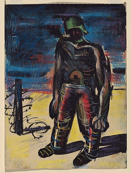 Albert Tucker Study For Painting The Prisoner 1942 Social Art Painting Expressionist Artists