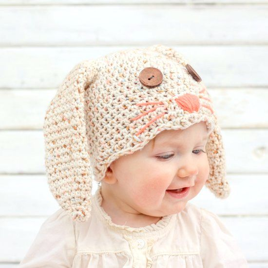 This free crochet bunny hat pattern makes a darling DIY Easter gift ...