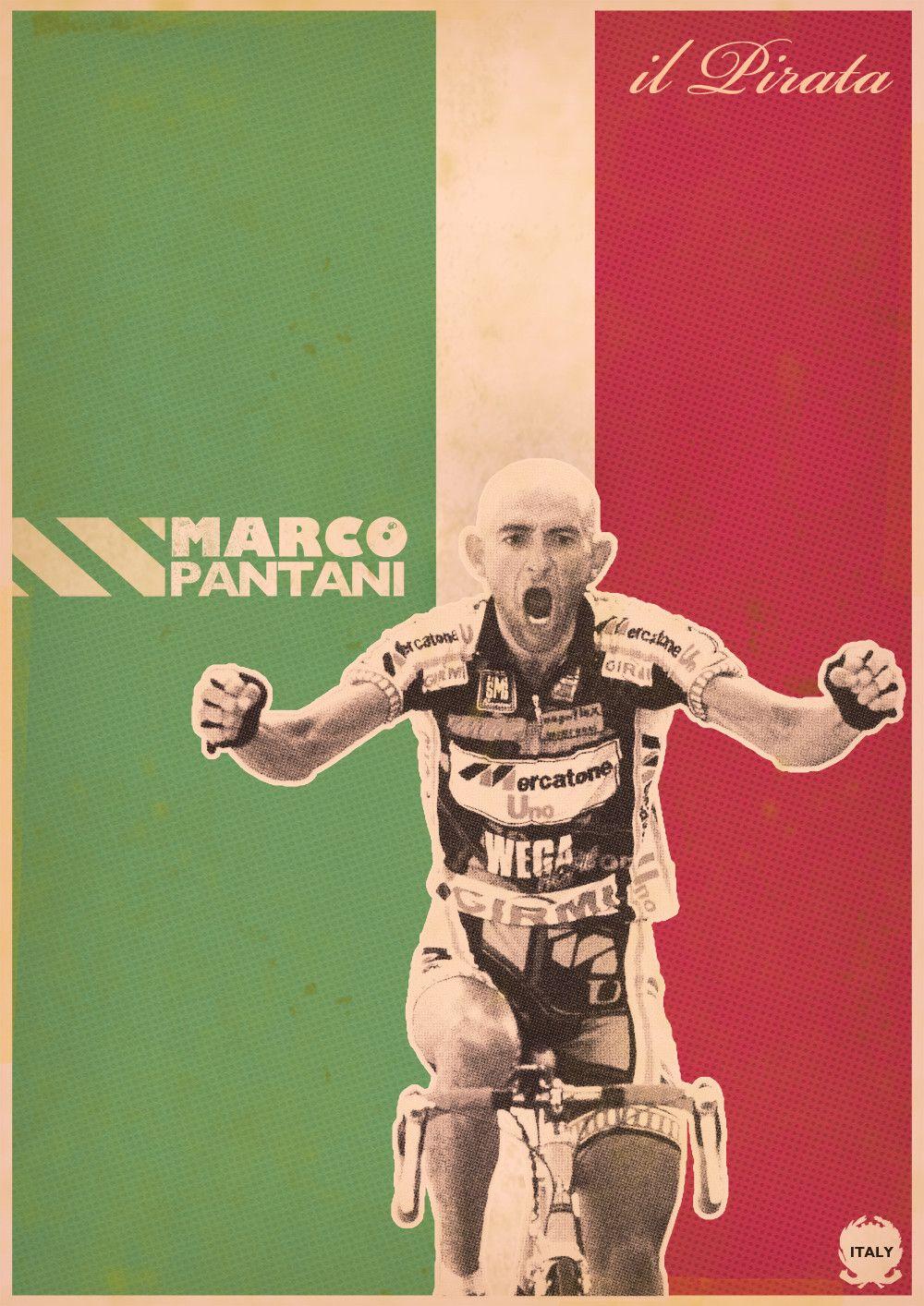 MARCO PANTANI GIRO D/'ITALIA CHAMPION SIGNED POSTER