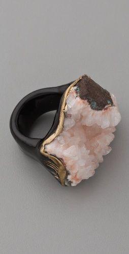 """Adina Mills Design """"Pink Heulandite Ring"""""""